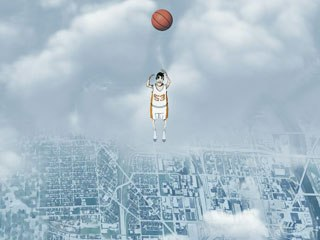 Designer Diogo Kalil created Colin's sports fantasy using a spindly-legged, simply drawn version of the teen outshining his competitors through a series of suddenly changing environments.