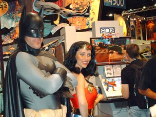 Batman and Wonder Woman make an attractive couple on the Comic-Con floor. Courtesy of Janet Hetherington.