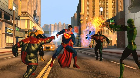 The new Mortal Kombat (MK) vs. DC Universe (DCU) videogame draws its inspiration from two established franchises. The most memorable characters from both worlds pair up well. Courtesy of Midway.