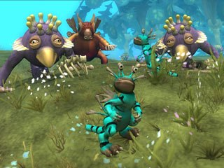 Award-winning videogame creator Will Wright was at Comic-Con in his first-ever appearance to publicize the highly anticipated Spore game. © EA.
