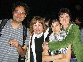 Theodore Ushev, Buba (former head of Animafest Zagreb), Paloma Quinn Mills and Joanna Quinn at opening night.