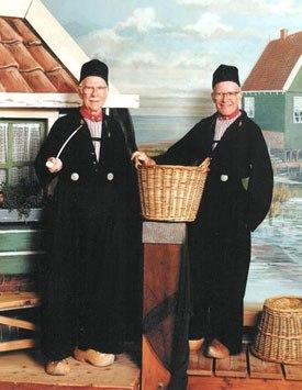 Ollie Johnston and Frank Thomas as traditional Dutch fishermen -- Marken, Holland 1984.