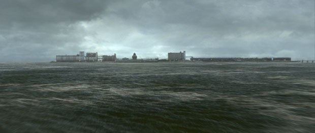 The show also featured environment work for Mr. X, including this completely CG shot of Terminal Island.