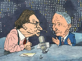 Larry King interviews Ross Perot in the first