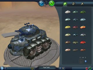 Spore provides players with a wealth of creative tools to customize nearly every aspect of their universe -- creatures, vehicles (above), buildings and spaceships.