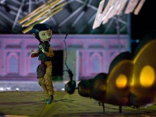 The two worlds Coraline travels between are similar in form but have completely different tones: The real world is flat and more worn than the slightly glossier look of the Other World. Photo credit: Galvin Collins.