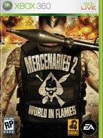 Mercenaries 2 is a kind of hybrid, a third-person shooter mixed with a sandbox action/adventure game.