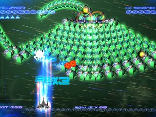 The aliens are harder to take down in this version because they don't go down with one shot, plus they arrive in groups of 50 at a time. The player needs to find the aliens'