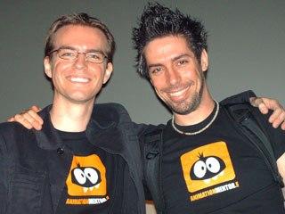 Animationmentor.com's Shawn Kelly and Carlos Baena.