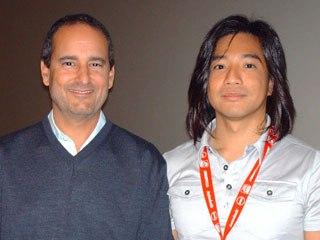 Rainmaker's Paul Gertz and ReBoot director William Lau.