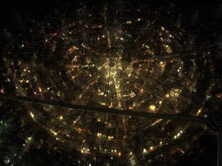 When director Gil Kenan began visualizing City of Ember, he made drawings of key elements, like its signature grid of lights. Courtesy of BUF Compagnie. All images © Walden Media & Twentieth Century Fox.