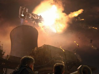 Entity FX also produces post-apocalyptic sequences for the series. From episode two of this season, the studio created CG elements, contrails, camera shake, explosions, debris and a new sky for this future war scene.