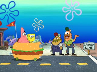 SpongeBob's first foray outside the 11-minute TV format was with his 2004 feature film.
