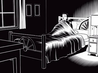 Charles Burns' segment was done entirely in 3D. A dedicated rendering tool that applied his brush stroke to fully 3D-animated scenes was specifically developed for the project.
