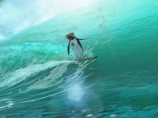 Surf's Up is another example of the kind of all-family films SPDP will continue to make. © Sony Pictures Digital Inc.