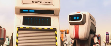 MacLane had intimate knowledge of the WALL·E universe from working on the film as the directing animator. He knew what assets could be reused, plus what to build, as with the new character SUPPLY•R.
