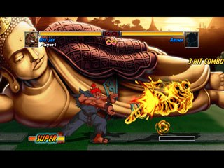 Many of the moves in HD Remix have been slightly tweaked to make the fighting experience more enjoyable. One addition is that the damage system has finally been balanced when fighting against a computer opponent. © Capcom.