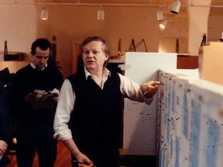 The chance to work with Richard Williams, above with a Roger Rabbit storyboard, was an important reason why so many animators wanted to work on the film. Courtesy of Tom Sito.