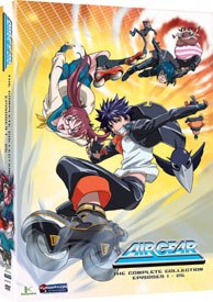 Air Gear combines a boy, some hot girls and lots of high-tech skates. Campy, but fun.