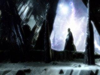 A phantom comes toward Kara at the portal in Episode 9,
