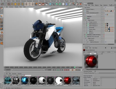 Cinema 4D's renderer can create highly realistic images. The Advanced Renderer supports caustics and global illumination.
