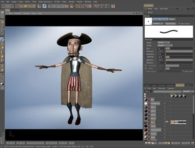 BodyPaint, an excellent 3D painting tool, is included with Cinema 4D.