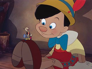 Multiplane camera effects used in 1940's Pinocchio were revived with the CAPS system that Kimball helped design. © Disney Enterprises, Inc. All rights reserved.