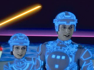 Kimball wrote software to produce the halo effect that surrounded images of the live-action characters in Disney's CGI breakthrough Tron. © Disney Enterprises, Inc. All rights reserved.