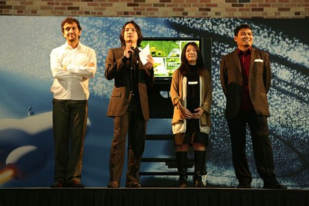 nrico Casarosa, Dice Tsutsumi, Yukino Pang and Ronnie Del Carmen were the organizers of the event. (Photo by Deborah Coleman / Pixar)