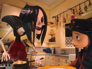 Other Mother's creepy true nature is revealed to Coraline. The scares in the film hearken back to early Disney animated features like Snow White and Alice in Wonderland.