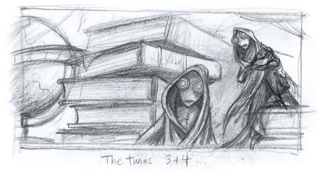 cker's personal drawings of The Twins, 3 & 4.