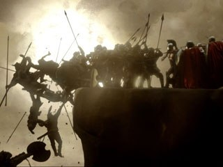 300 is another example of a stylized comic-turned-film that created an entirely new world. Courtesy of Warner Bros. Pictures.