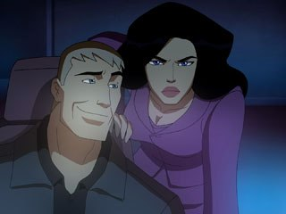 Keri Russell is the voice of the re-envisioned Wonder Woman while Nathan Fillion voices Steve Trevor.