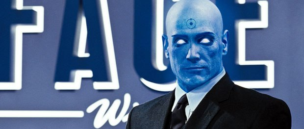 Dr. Manhattan had to look photoreal, maximizing the performance and preserving as much as possible in CG.