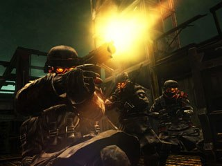 The post-apocalyptic world of Killzone 2 is an alien world filled with humanoid soldiers.