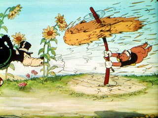 The wolf-at-the-door metaphor many were feeling in 1933 was perfectly realized in Disney's Three Little Pigs. © Disney. All rights reserved.