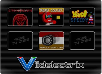 Videlectrix style shows the Chapman brothers' love for vintage videogames.