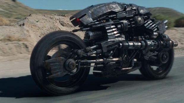 The sleek, two-wheeled Moto-Terminators were inspired by the Ducati bikes.