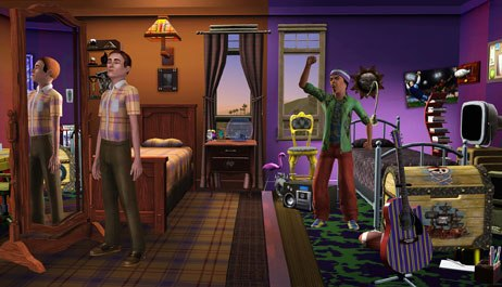 The presentation of the game's artificial intelligence is advanced, and the Sims respond to outside conditions on their own.