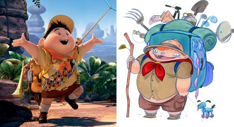 Timmy (right) from Timmy's Lessons In Nature and Russell from Up: Go figure.