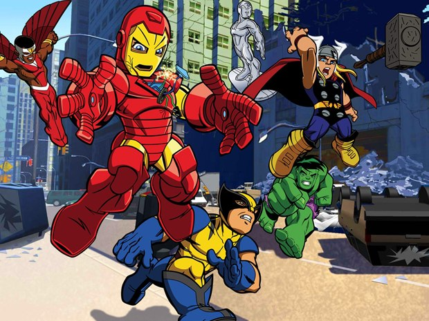 Projects backed by big studios like Super Hero Squad are providing work for smaller studios during this tough economic time. © Cartoon Network/Marvel Entertainment 2009