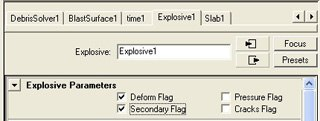 [FIGURE 9] The Secondary Flag toggled on under the Explosive1 tab.