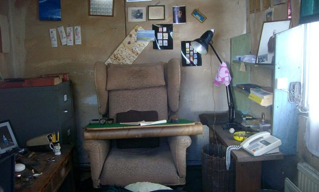 The interior of the famed Gipsy Hut where Dahl wrote. The chair and many of the objects found their way into the movie. Photo by Bill Desowitz.