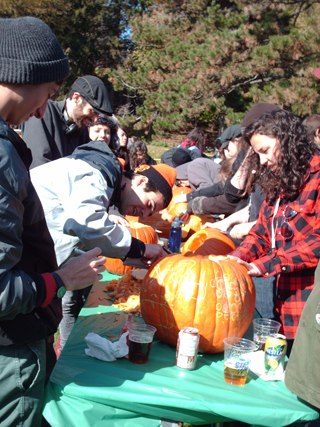 Pumpkin carving at the famed Animator's Picnic.