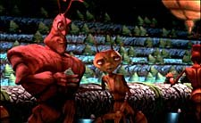Z, a worker ant, complains to hisfriend Weaver, a soldier, in the bar. © DreamWorks LLC.