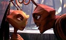 General Mandible confronts Princess Bala. © DreamWorks LLC.