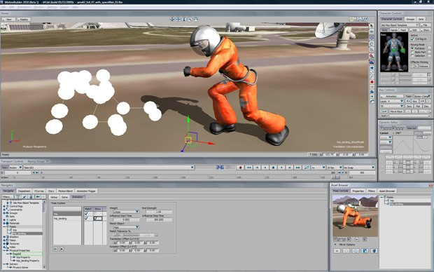 A new pose-to-pose workflow in MotionBuilder gives animators the ability to guide or match their ragdoll simulations to user-defined poses, for more predictable, controllable results.