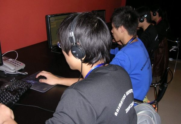 Students work at Animation Base.