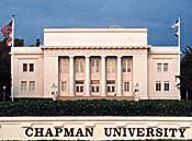 The campus of Chapman Universityprovided a sunny setting for the 1998 SAS Conference. Photo courtesy of Chapman University.