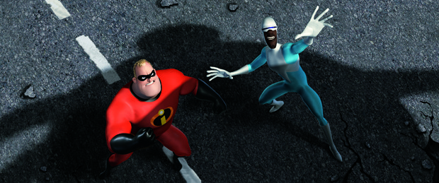 Bessie marveled at The Incredibles and couldn't distinguish CG from hand-drawn. Courtesy of Disney/Pixar.
